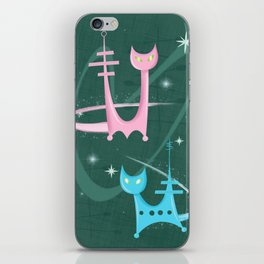 Atomic Rocket Cats In Space iPhone Skin