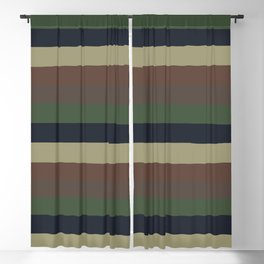 lumpy or bumpy lines abstract - QAB279 Blackout Curtain