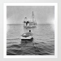 minimal minimalism and correlation between boat and a boat Art Print