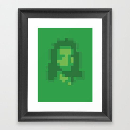 Mosaic Messiah ( Jesus ) Framed Art Print
