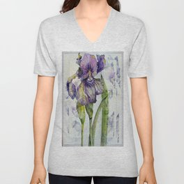 Iris Abstract Unisex V-Neck