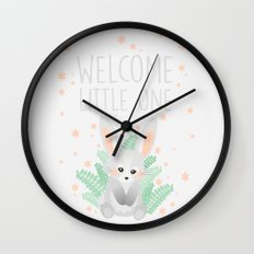 Welcome Little One Wall Clock