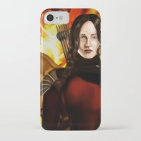 mockingjay iPhone & iPod Cases featuring Mockingjay by gottalovedrawing