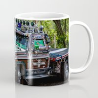 truck Mugs featuring Truck by Rafael Andres Badell Grau