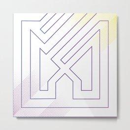 Abstract purple art modern geo Metal Print