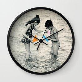 Washed Up Wall Clock
