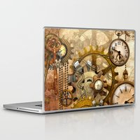 steampunk Laptop & iPad Skins featuring steampunk by Ancello