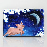pigs iPad Cases featuring 3 Pigs by Priscilla George