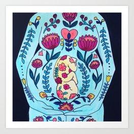 Blooming in Love Art Print