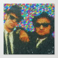 blues brothers Canvas Prints featuring Blues Brothers by Kevin Rogerson