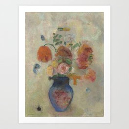 Odilon Redon - Large Vase with Flowers Art Print