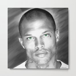Jeremy Meeks Large Size Portrait Metal Print