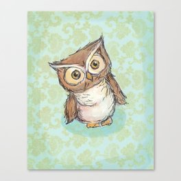 Little Brown Hoot Canvas Print