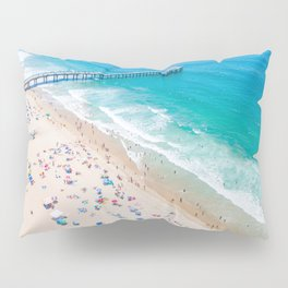 Manhattan Beach Drone Shot Pillow Sham