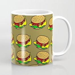 Cheeseburger Doodle Background Coffee Mug
