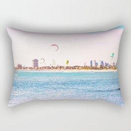 Windsurfing at St Kilda Rectangular Pillow