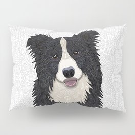 Happy Border Collie Pillow Sham