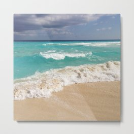 Beach Water Coastal Sand Metal Print