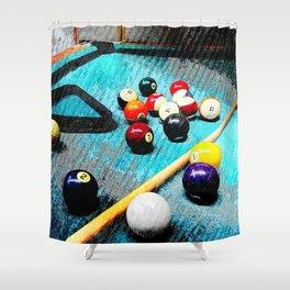Billiard art and pool artwork 5 Shower Curtain