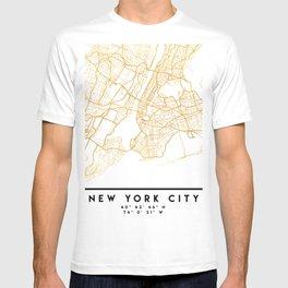 NEW YORK CITY NEW YORK CITY STREET MAP ART T-shirt