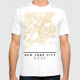 NEW YORK CITY NEW YORK CITY STREET MAP ART T-shirt