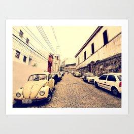 Old Cars - Rio de Janeiro Art Print