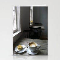 cafe Stationery Cards featuring CAFE by Rachel Craig
