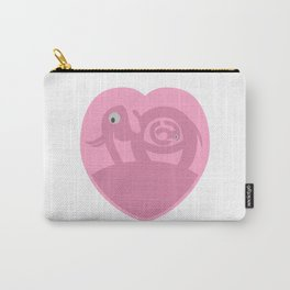 Pregnant Elephant Heart Carry-All Pouch