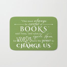Words Have the Power to Change - Tessa (Med Green) Bath Mat