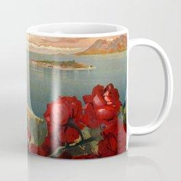 Le Lac Majeur Vintage Travel Poster Coffee Mug