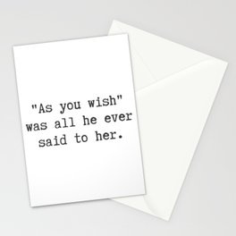 All He Ever Said to Her Stationery Cards