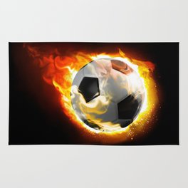 Soccer Fire Ball Rug