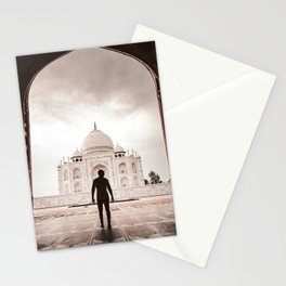 tourist at taj mahal Stationery Cards
