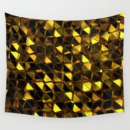 Golden Polygons 02 Wall Tapestry