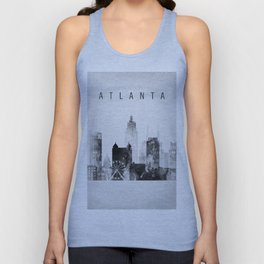 Atlanta skyline Black and white Unisex Tank Top