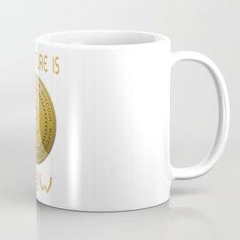 Gold Bitcoin Logo Symbol The Future is Now Coffee Mug