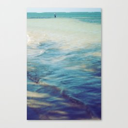 Fisherman in the distance, Mauritius II Canvas Print