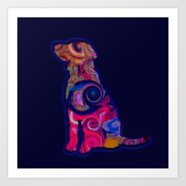 Psychedelic Dog Art Print