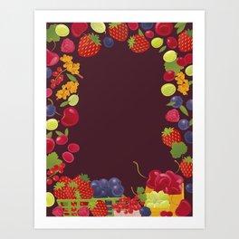 Berries. Sweet summer. Art Print