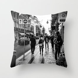 One Way Afternoon (Lisbon) Throw Pillow