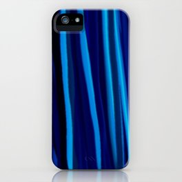 Stripes  - Ocean blues and black iPhone Case