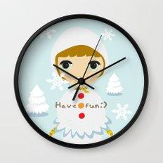 Snow Girl Wall Clock