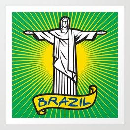 Christ the Redeemer statue in Rio de Janeiro, Brazil Art Print