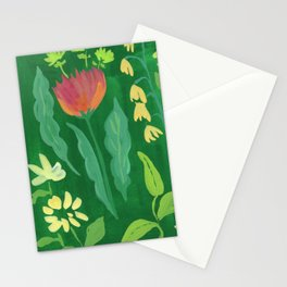 Sweet Flowers and Stems Stationery Cards