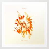 supernatural Art Prints featuring Supernatural by Rose's Creation