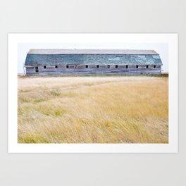 Prairie Barn Art Print