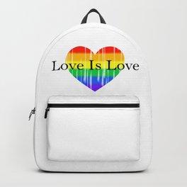 Love Is Love Rainbow Pride Heart 2 Backpack