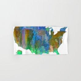 Usa Colorful Map Hand & Bath Towel