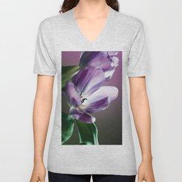 Violett Tulips Unisex V-Neck