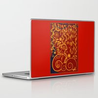 gustav klimt Laptop & iPad Skins featuring A Garden for Gustav by DebS Digs Photo Art
